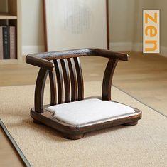 Japanese Chair, Japanese Furniture, Minimalist Furniture, Minimalist Decor, Floor Seating Cushions, Tatami, Meditation Chair, Rustic Wood Floors, Convertible Furniture