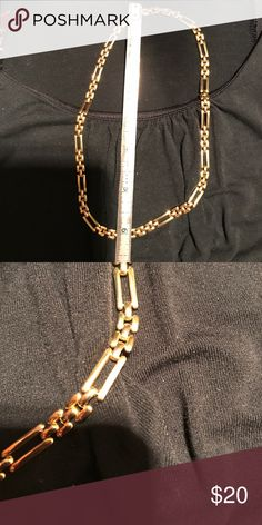 Necklace Gold necklace- wore a few times. Good quality. 6in long Jewelry Necklaces