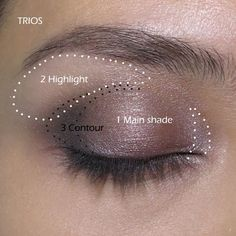 How to use Duos, Trios, Quads, Quintets???! Step By Step, Simple, Easy Tutorial and Ideas For Beginners. Covers Natural, Smokey, Bright, Simple and Everyday Looks. Video and Pics With Tutorials For Green Eyes, Blue Eyes, Brown Eyes, Hazel Eyes, and Purple Eyes. Try Glitter, Gold, Pink, Dark or Cut Crease Looks For Applying Eyeshadow.