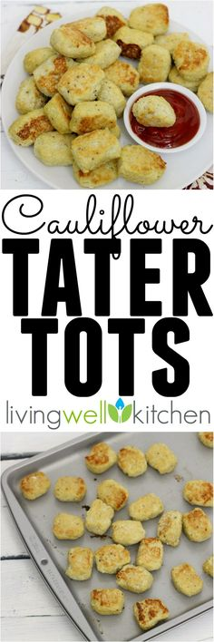 It's easy to get excited about veggies when you have these adorable Cauliflower Tater Tots from @memeinge. They might not taste like regular tater tots but are equally delicious, especially when served with spicy harissa ketchup! Dairy-free and gluten-free appetizer or snack recipe great for gameday