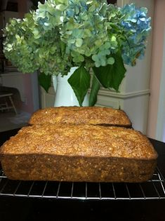 Zucchini bread from 'Paula Deen's Southern Cooking Bible,' Aunt Susie and wasps - Zucchini bread from 'Paula Deen's Southern Cooking Bible,' Aunt Susie and wasps - Pioneer Woman Zucchini Bread, Paula Deen Zucchini Bread, Paula Deen Banana Bread, Zuchinni Bread, Zucchini Banana Bread, Zucchini Bread Recipes, Banana Dessert, Dessert Bread, Food Network Recipes