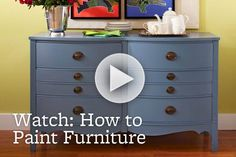 Give furniture a facelift with a fresh coat of paint. How-To: http://www.bhg.com/videos/m/44397288/your-guide-to-painting-furniture.htm
