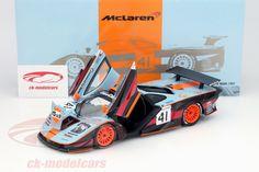 McLaren F1 GTR, 2nd 24h Le Mans 1997, No.41, Jean-Marc Gounon / Pierre-Henri Raphanel / Anders Olofsson, Gulf Team Davidoff. Minichamps, 1/18, Limited Edition 2000 pcs. Price (2016): 80 EUR.