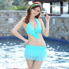 29.00$  Watch now - https://alitems.com/g/1e8d114494b01f4c715516525dc3e8/?i=5&ulp=https%3A%2F%2Fwww.aliexpress.com%2Fitem%2FSexy-Swimsuit-Push-up-Bikini-2016-Swimwear-Solid-Swimsuit-with-Ruffles-Neon-Bikini-Halter-Bikini-Swimsuit%2F32708017290.html - Sexy Swimsuit with Ruffles Halter Neon Bikini Skirts Pink Blue Swimsuit Swimwear Womens with Skirt for May Beach