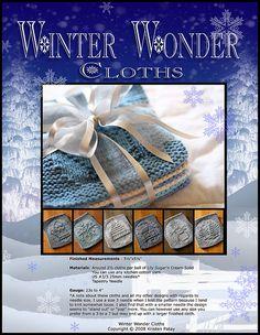Ravelry: Winter Wonder Cloths pattern by Kris Knits Dishcloth Knitting Patterns, Crochet Dishcloths, Knit Crochet, Crochet Patterns, Spa Outfit, Knitted Washcloths, Crochet Kitchen, Winter Wonder, Christmas Knitting