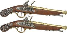 Regency Duelling Pistols. By the Regency era, dueling was outlawed (although it still happened).