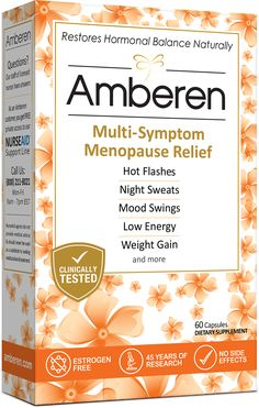 Get $10 Walmart coupon for Amberen Menopause Relief