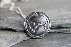Scorpio Constellation Necklace Fine Silver Pendant Star Sign