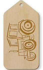 tractor shaped tags - Google Search