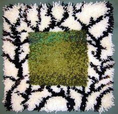 Rya Rug, Wool Rug, Latch Hook Rugs, Textiles, Weaving Art, Rug Hooking, Embroidery, Artwork, Handmade