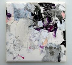 Sakura no mi ( revised ) (2011) Oil on canvas, ink, pigment, charcoal 455x455x45mm | Flickr - Photo Sharing!