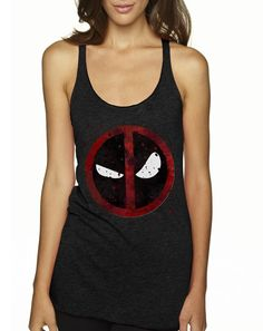 Deadpool Tank Deadpool Deadpool Shirt Womens by NerdyNoveltyInc