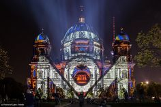 Artist: Lichttapete. The #FestivalOfLights has invited ten #designers, #creatives and #artists to design the facade of the #BerlinCathedral under the motto #ColoursOfJoy.   #BerlinerDom #Berlin #Colours #Light