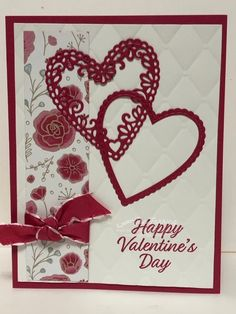 Valentine's Day Swap Card I just had to share this beautiful card Ruth Bingle shared this beautiful Valentine Love Cards, Valentines, Stamping Up Cards, Paper Cards, Creative Cards, Anniversary Cards, Greeting Cards Handmade, Homemade Cards, Holiday Cards
