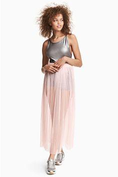 Плиссированная юбка - Бледно-розовый - Женщины | H&M RU 1