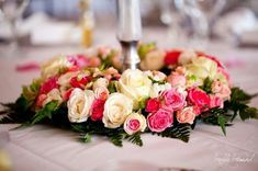 couronne de fleurs déco de table mariage