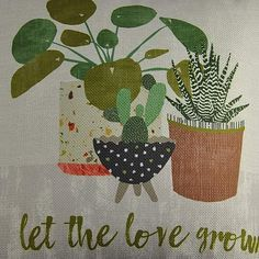 Let the Love Grow Cushion   Dunelm