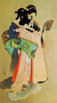 """""""Three Women Reading"""" by Uemura Shōen - . Uemura Shōen was the pseudonym of an important woman artist in Meiji, Taishō and early Shōwa period Japanese painting. Her real name was Uemura Tsune. Reading Art, Woman Reading, Reading Books, Japan Kultur, Samurai, Art Asiatique, Art Japonais, Art Academy, Japanese Painting"""