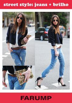 Hoje já é sexta feira! Combine jeans + brilho para arrasar na balada ou para compor combinações elegantes. Inspire-se nesse look!