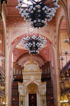 Great Synagogue inside, Budapest, Hungary