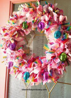 DIY Easter Rag Wreath