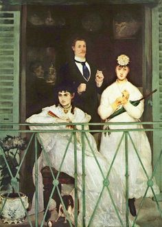 The Balcony, 1868 by Edouard Manet #manet #paintings #art