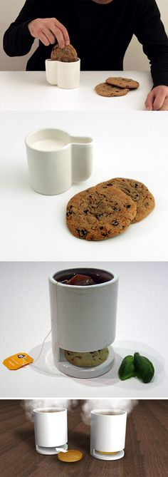 Dunk-In Design: Milk Mug has Side Slot for Dipping Cookies