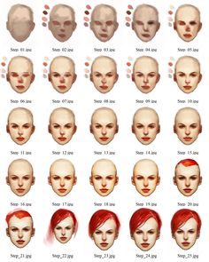 http://online-drawinglessons.com - How to draw a human face male and female face.