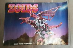 ZOIDS - Vintage Toy Store Poster from the 80's - TOMY - Krark - RARE