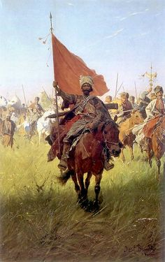 Song of the Cossack Victors, Józef Brandt (Polish, 1841–1915), oil on canvas