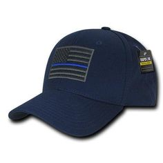 339a83c87ad Rapdom USA American Flag Tbl Trl Tactical Operator Cotton Baseball Hats Caps.  Navy CapThin Blue LinesTactical ...