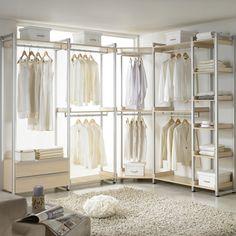 14 Walk In Closet Designs For Luxury Homes Corner Wardrobe Closet, Wardrobe Room, Diy Wardrobe, Wardrobe Design, Closet Bedroom, Bedroom Storage, Bedroom Decor, Family Closet, Master Bedroom