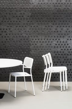 Isar by De Vorm Acoustic Wall, Sustainable Furniture, Felt Material, Felt Decorations, Stackable Chairs, Industrial Design, Innovation, Dining Chairs, Pets