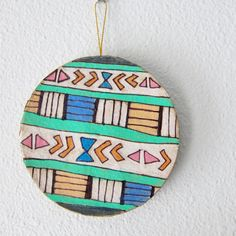 """Southwestern Circle Ornament"" on #etsy #southwestern #ornament #holidays #katnawlins #colorful"