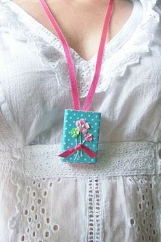Matchbox locket. Fill with photo or message.