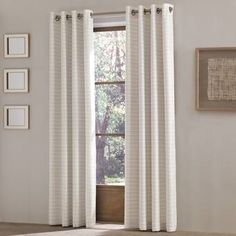 Shop for Five Queens Court Ellie Grommet Top Single Curtain Panel. Get free delivery On EVERYTHING* Overstock - Your Online Home Decor Outlet Store! Cool Curtains, Colorful Curtains, Grommet Curtains, Window Curtains, Drapery, Blush Rose, Striped Room, Queens New York