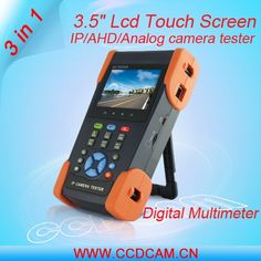 (183.00$)  Watch here  - 3.5inch Touch Screen Multifunction IP Camera/AHD/Analogue Camera economical CCTV Tester With Multi-meter, WIFI,POE