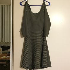 L.A Hearts Open Back Summer Dress Bought at Pacsun, size S, I'm thinking it would fit someone size 2-4. Stretchy fabric for comfort and kind of bell shaped skirt that flows nicely. I love the dress but it was too small when I got it. Worn once! PacSun Dresses