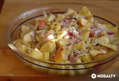 Savanyú káposzta saláta Potato Salad, Chicken Recipes, Cabbage, Salads, Bbq, Tasty, Vegetables, Health, Ethnic Recipes