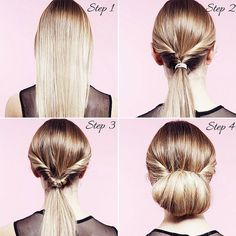Party hair: Twisted bun tutorial step-by-step / how to