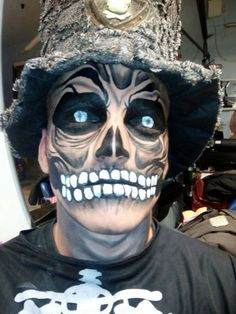 scary skull face paint halloween snazaroo facepaint - Halloween Skull Face Paint Ideas