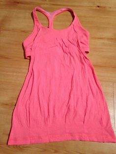 Lululemon Coral Pink Sports Bra Tank Top Running Yoga 8 Orange Racerback    eBay