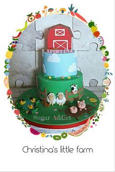 Farm themed cake