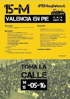 València en Comú secunda la convocatoria de ocupación de las plazas el 15-M