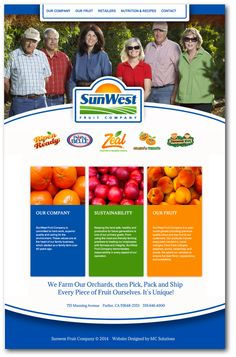 #websitedesign by MC Solutions: SunWest Fruit Company