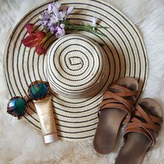 Fashion, Style, Outfit, OOTD, Accessories, Accessorize, Photo Shoot, Fashion Photography, Fashion Blogger, Style Blogger, Personal Stylist, Personal Shopper, Fashionista, Flat Lay, Bikini, Sunnies, Sunglasses, Floppy Hat, Hat, Beachwear, Beach Style, Beach Necessities, Travel Flat Lay, Flowers, Florals, Sandals www.lovekrystle.com