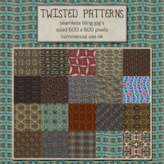 This is a set of seamless patterns Feel free to use these however you'd like, no commercial use license is needed Download link below preview: Download at Deviantart HERE