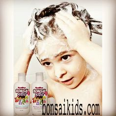 Lather - rinse - repeat with Bonsai Kids Fruit Power Shampoo & Conditioner.❤️