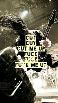 Slipknot - Custer, favorite song on new CD!<<< Its not even because of the lyrics speaking to me. This whole song leaves me thrashing and kicking and screaming and I fucking love it. Maybe its just me..