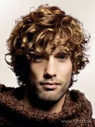 Image result for hairstyles with long curly hair for boys